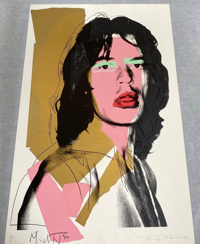 Mick Jagger F&S II.143 - Pop Art Print by Andy Warhol