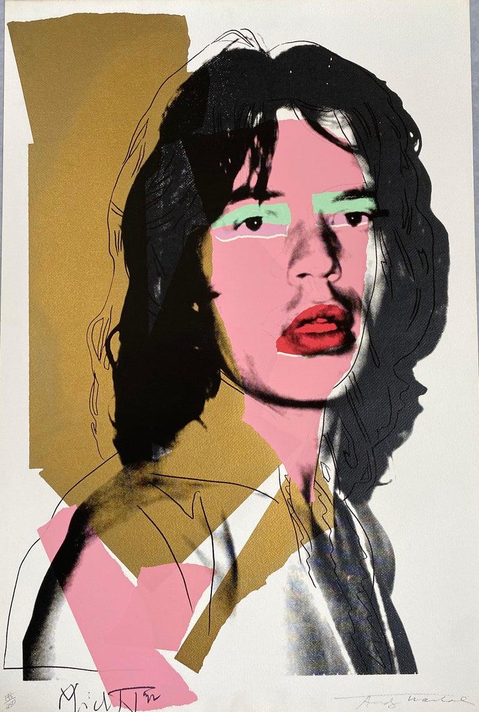 Andy Warhol Portrait Print - Mick Jagger F&S II.143