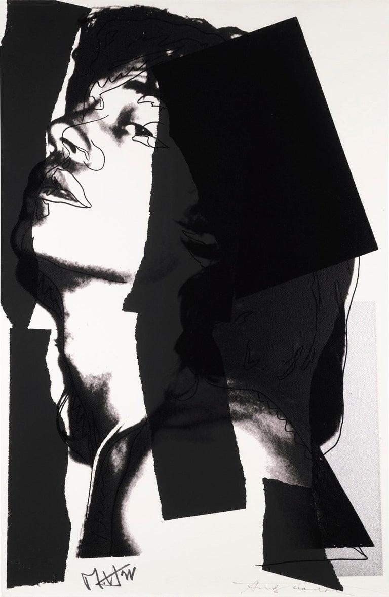Andy Warhol Print - Mick Jagger F&S II.144