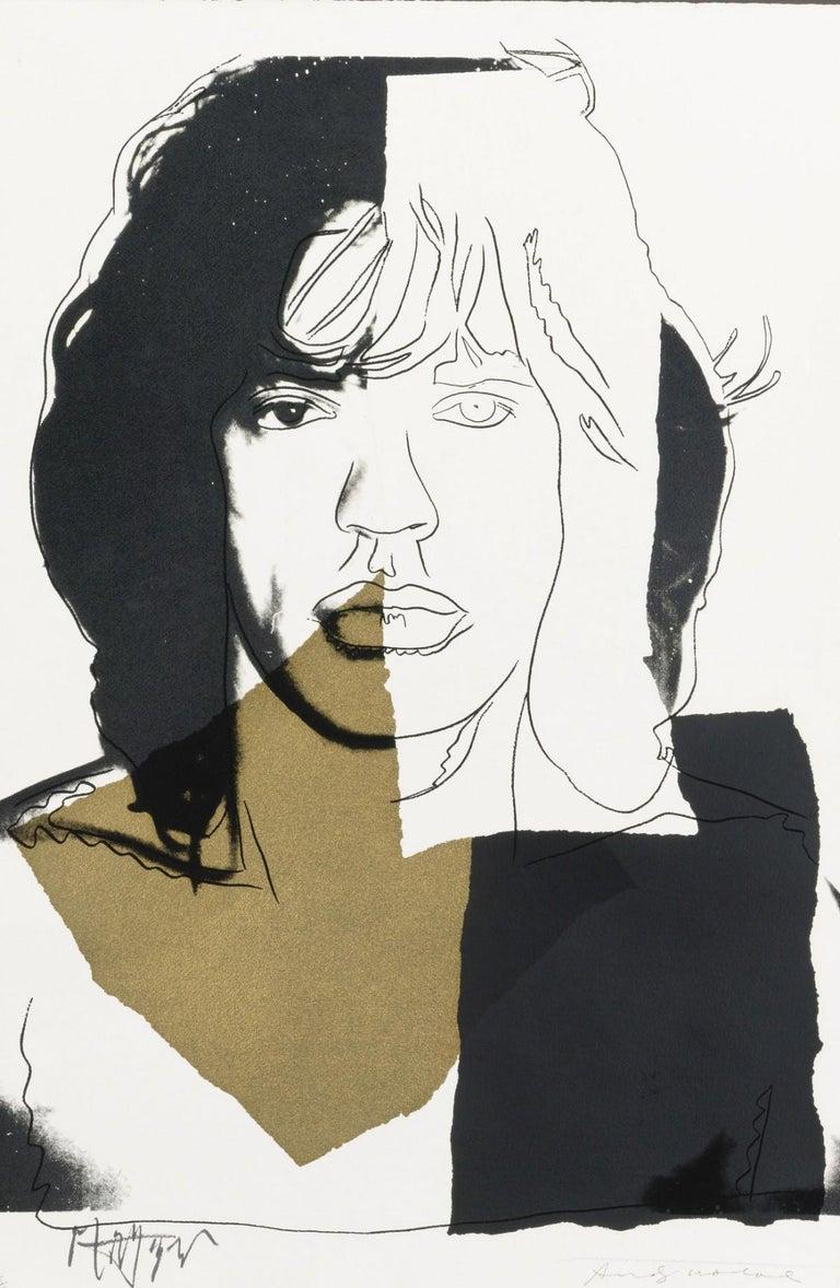 Andy Warhol Portrait Print - Mick Jagger (FS II.146)