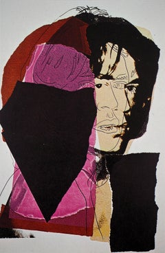 Mick Jagger Pink and Red - Offset Lithograph, 1975