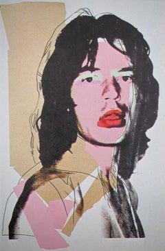 Mick Jagger Pink - Offset Lithograph, 1975
