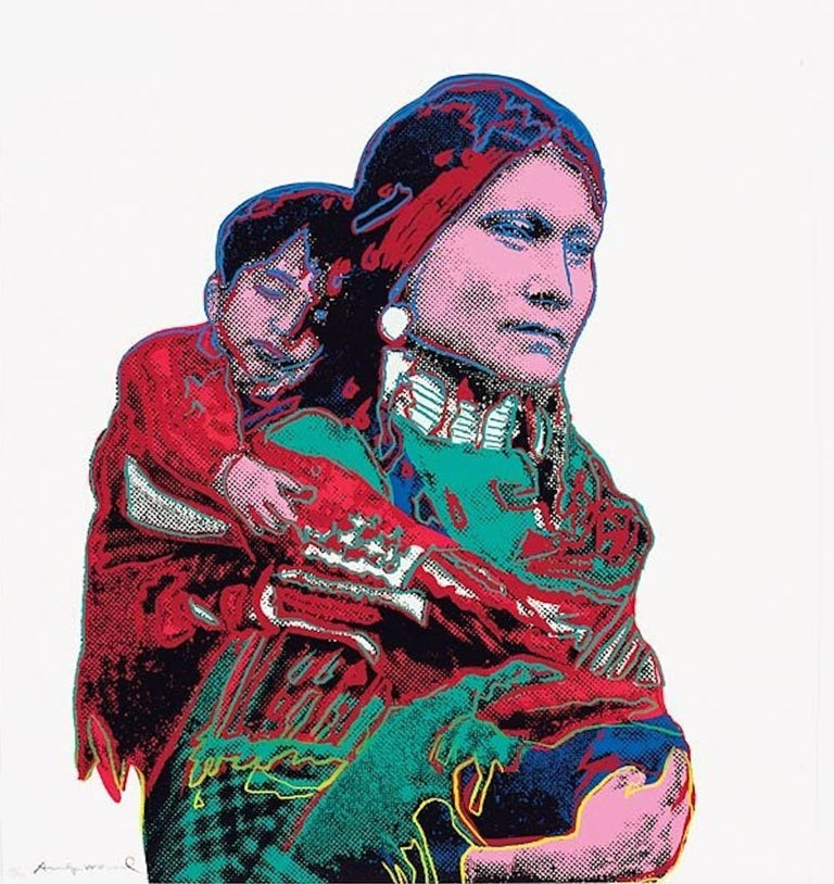 Andy Warhol Portrait Print - Mother and Child (FS II.383)