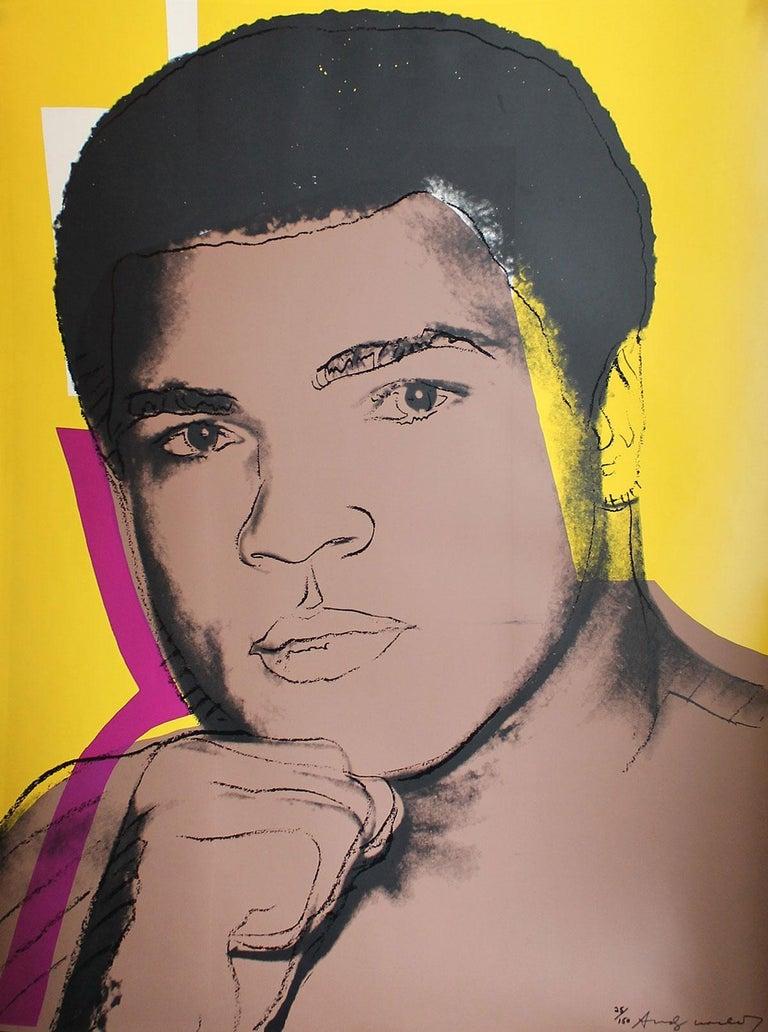Andy Warhol Portrait Print - Muhammad Ali (FS II.182)