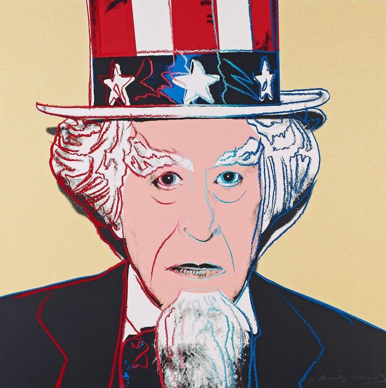 Andy Warhol Figurative Print - MYTHS: UNCLE SAM FS II.259