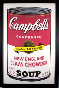 New England Clam Chowder (from Andy Warhol's Campbell Soup II Series)