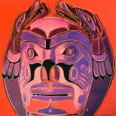 Northwest Coast Mask, from Cowboys and Indians, Unique Trial Proof, 1986