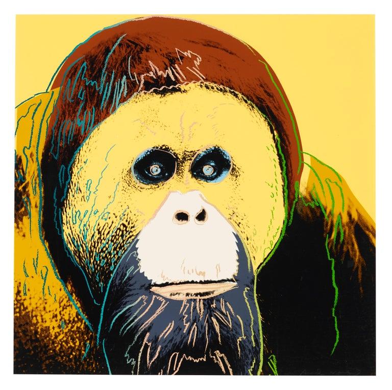 Andy Warhol Portrait Print - Orangutan, Endangered Species F&S II.299