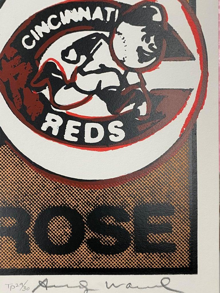 Pete Rose Trial Proof  - Pop Art Print by Andy Warhol
