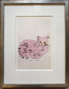 Pink 'Sam Sam' from 25 Cats... Hand-Coloured lithograph with signed frontispiece
