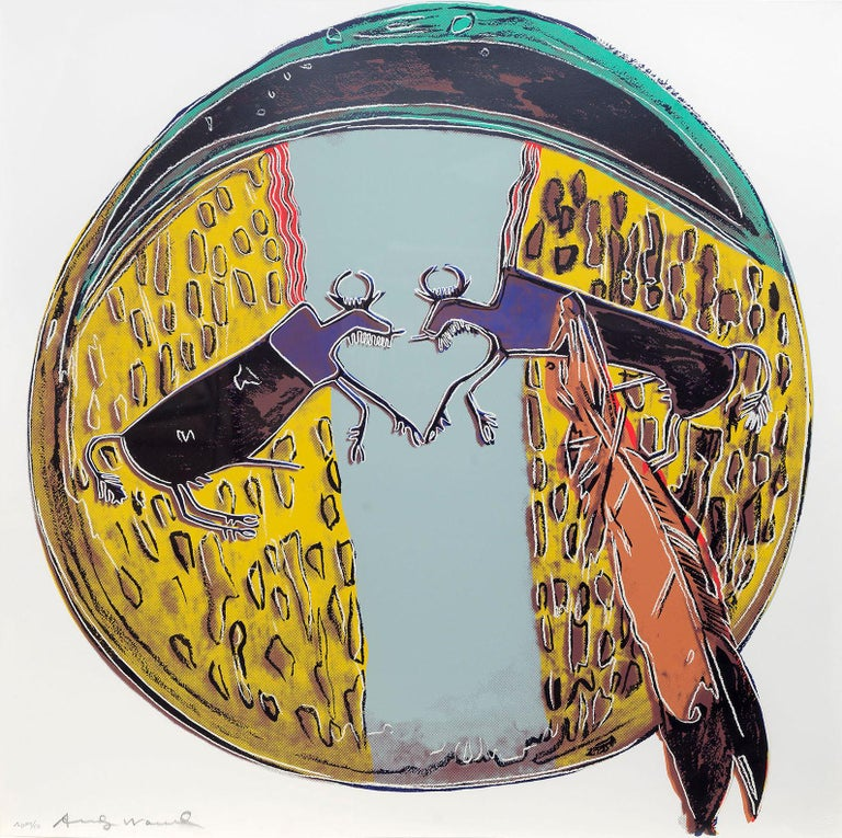 Plains Indian Shield - Andy Warhol, Pop Art, Prints, Screenprints, Contemporary  - Beige Still-Life Print by Andy Warhol