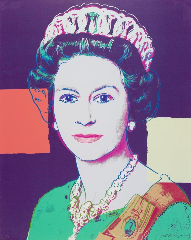 Andy Warhol Portrait Print - Queen Elizabeth II of the United Kingdom (FS II.335)