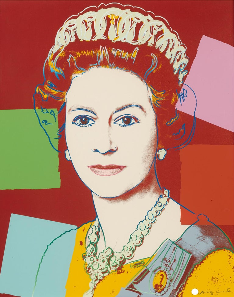 Andy Warhol Portrait Print - Queen Elizabeth II of the United Kingdom (II.334)