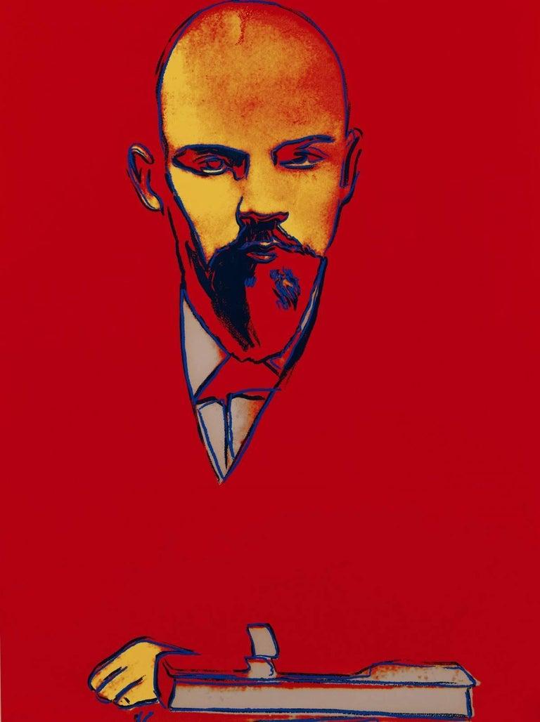 Andy Warhol Portrait Print - Red Lenin (FS II.403)