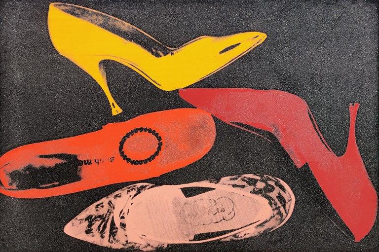 Andy Warhol Portrait Print - SHOES FS II.253