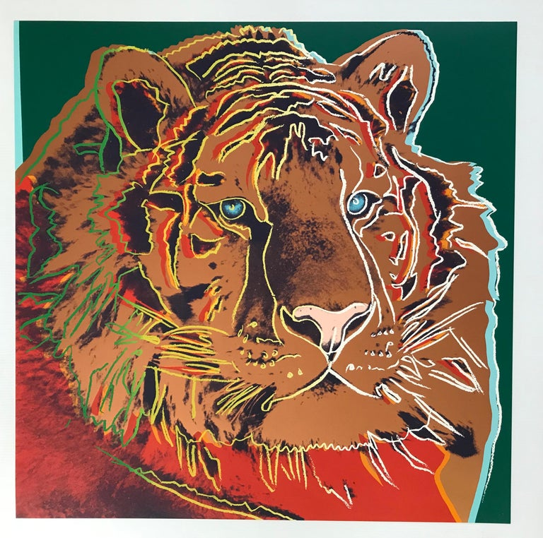 Siberian Tiger from Endangered Species F&S II.297 - Print by Andy Warhol