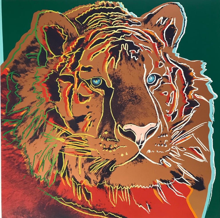 Andy Warhol Animal Print - Siberian Tiger from Endangered Species F&S II.297