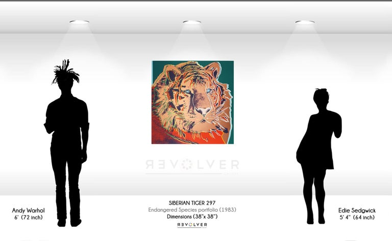 Siberian Tiger (FS II.297) - Orange Animal Print by Andy Warhol