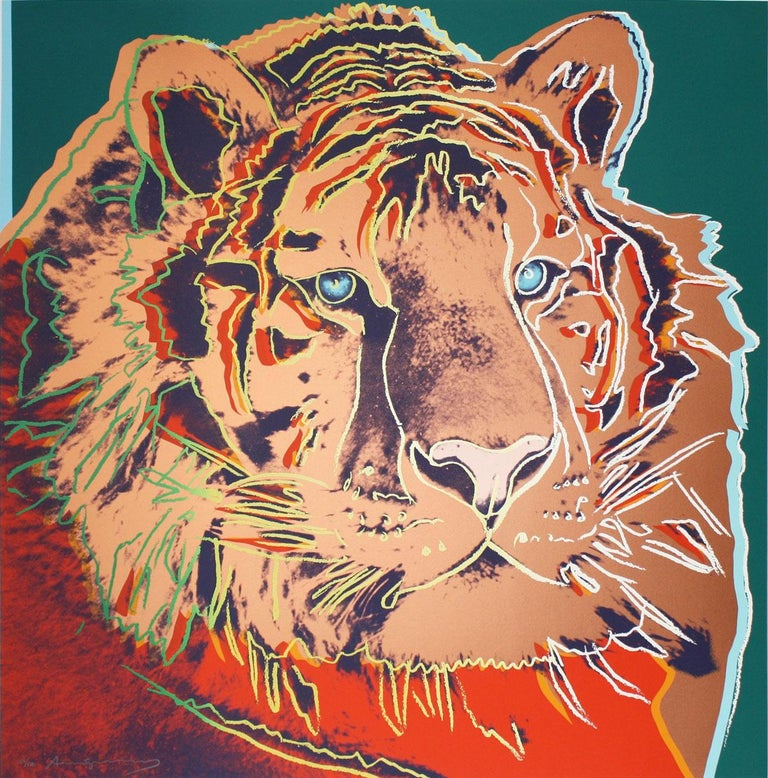 Andy Warhol Animal Print - Siberian Tiger (FS II.297)