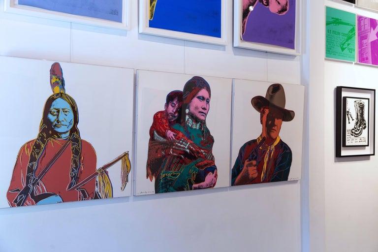 Sitting Bull (FS IIIA. 70)  - Pop Art Print by Andy Warhol