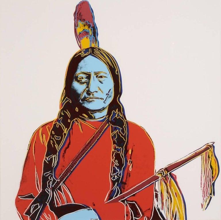Andy Warhol Portrait Print - Sitting Bull (FS IIIA. 70)