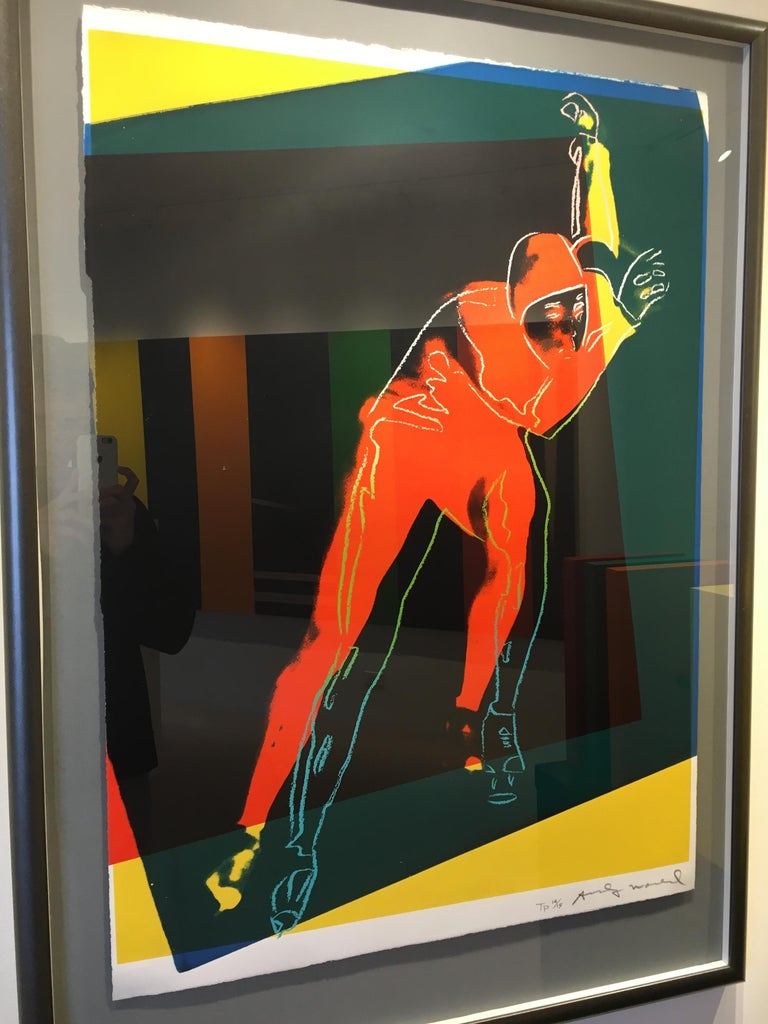 Andy Warhol Figurative Print - Speed Skater