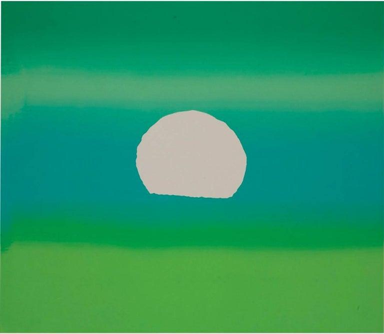 Andy Warhol Landscape Print - Sunset, Green