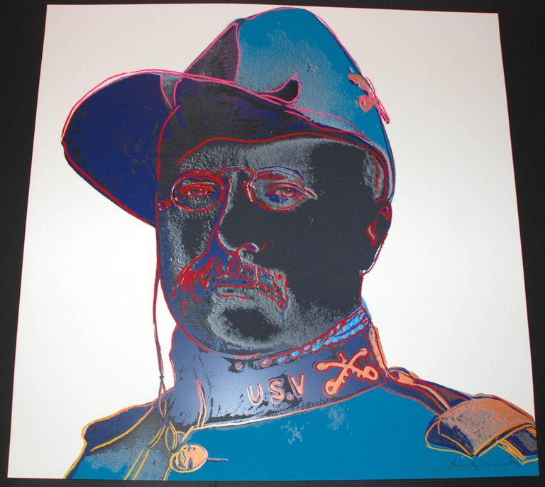 Teddy Roosevelt - Print by Andy Warhol