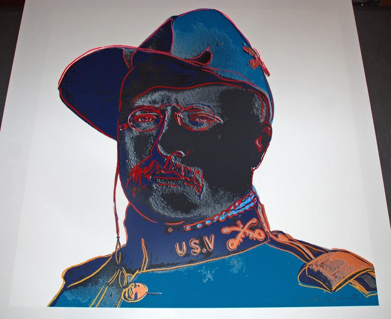 Andy Warhol Teddy Roosevelt Artist: Andy Warhol Medium: Original screenprint on Lenox Museum Board Title: Teddy Roosevelt Portfolio: Cowboys and Indians Year: 1986 Edition: AP 25/50 aside from the edition of 250 Sheet Size: 36