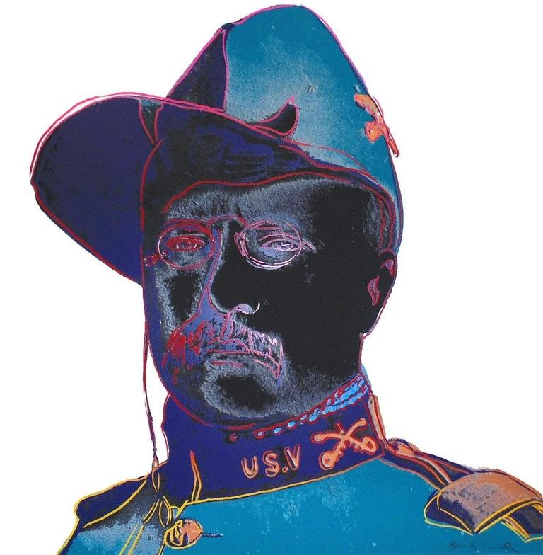 Andy Warhol Portrait Print - Teddy Roosevelt (FS II.386)