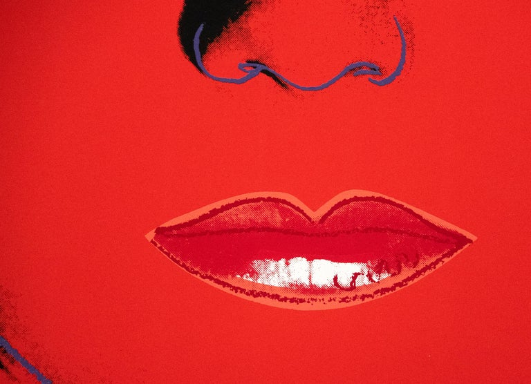 The Star, from Myths - Red Figurative Print by Andy Warhol