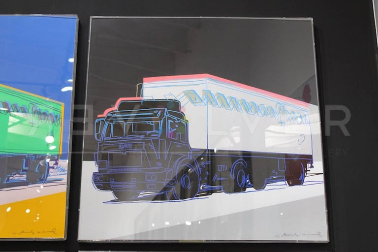 Warhol Truck 370 is a screenprint that was created by Andy Warhol in 1985 as a part of his Truck series, a portfolio of four images. These were published in conjunction with the Bundesverband des Deutschen Guterfernverkehrs to commemorate the