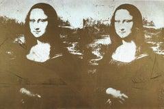 Two Golden Mona Lisas Lg)