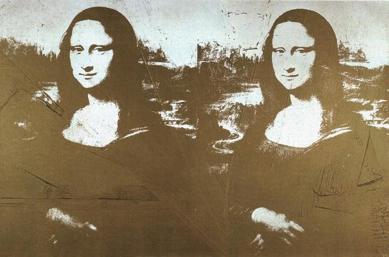 Andy Warhol Portrait Print - Two Golden Mona Lisas Lg)
