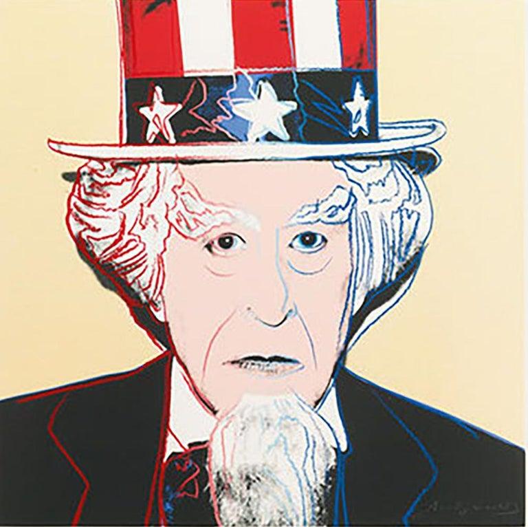 Andy Warhol Portrait Print - Uncle Sam (FS II.259)
