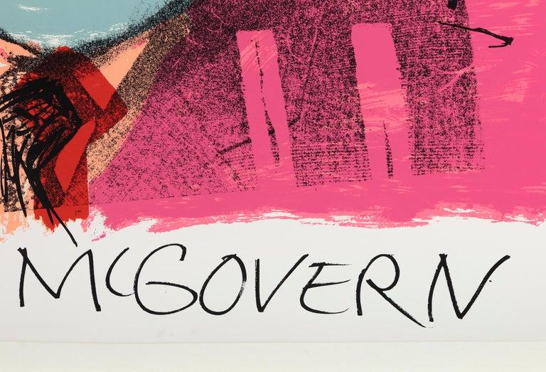 Vote McGovern - Orange Portrait Print by Andy Warhol