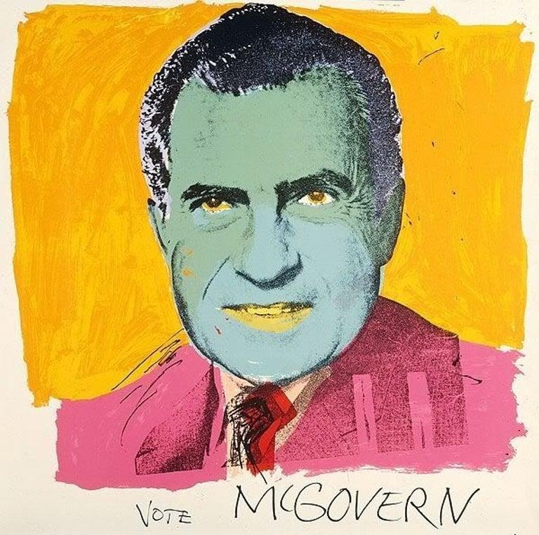 Andy Warhol Portrait Print - Vote McGovern (FS II.84)