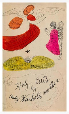 Warhol, Book Cover, Holy cats by Andy Warhol's Mother, Offset Lithograph, 1954