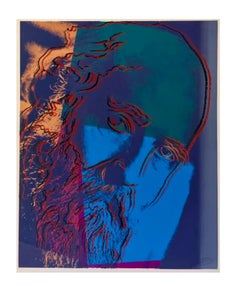 Warhol, Martin Buber Portrait ScreenPrint on Lennox Museum Board, 1980