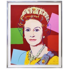 """Andy Warhol """"Queen Elizabeth II"""" Screenprint 1985 'Signed and Numbered'"""