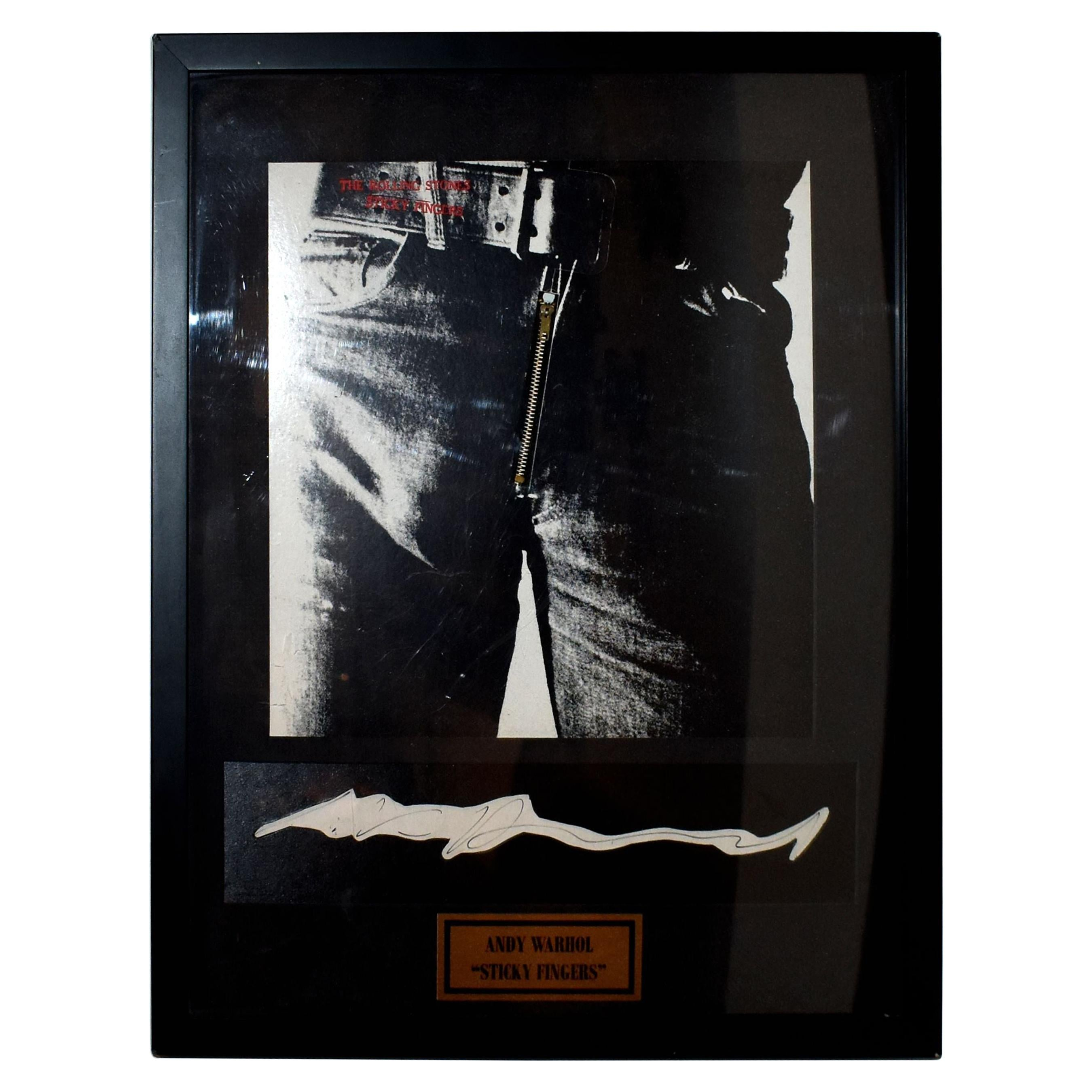 Andy Warhol Rolling Stones Signed Sticky Fingers Album