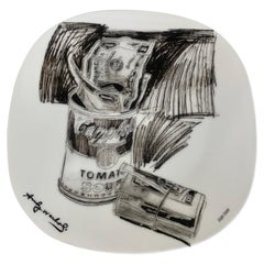 Andy Warhol Signed and Numbered Campbell's Soup. Can and Dollar Bills Plate