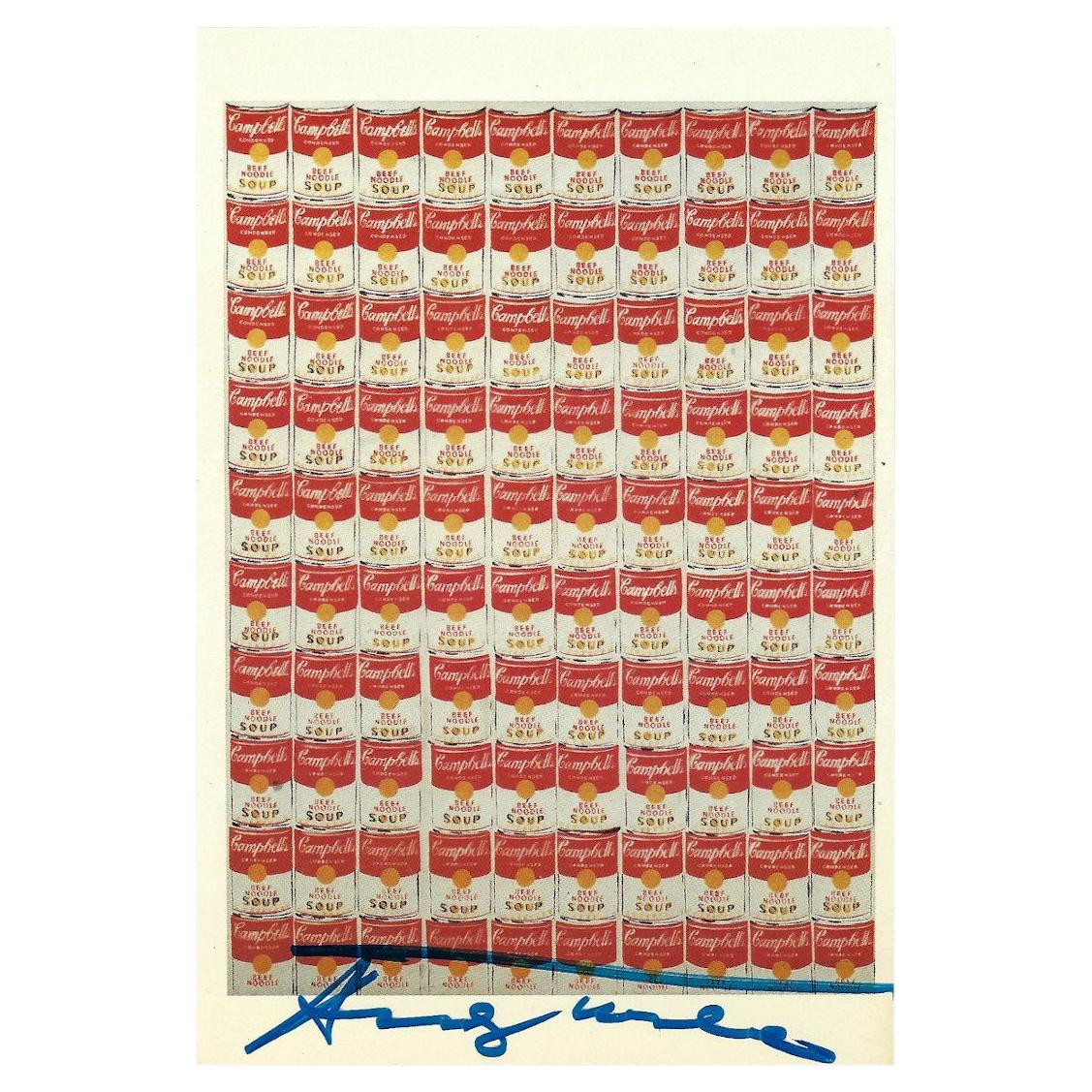 Andy Warhol Signed Campbell's Soup Postcard