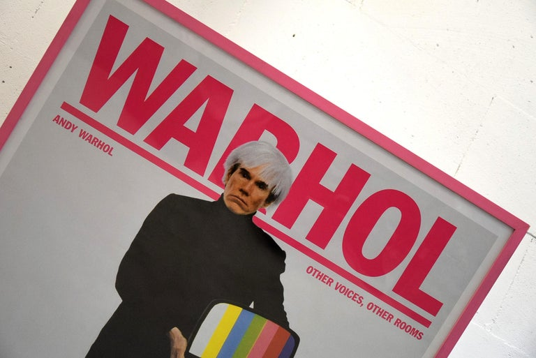 Stedelijk Museum Amsterdam rare Andy Warhol other voices, other rooms 2007 exhibition poster in great condition.  The framed poster will be shipped overseas in a custom made wooden crate. Cost of transport to the US crate included is Euro 225. If