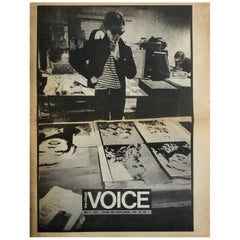 Andy Warhol the Village Voice, 1987