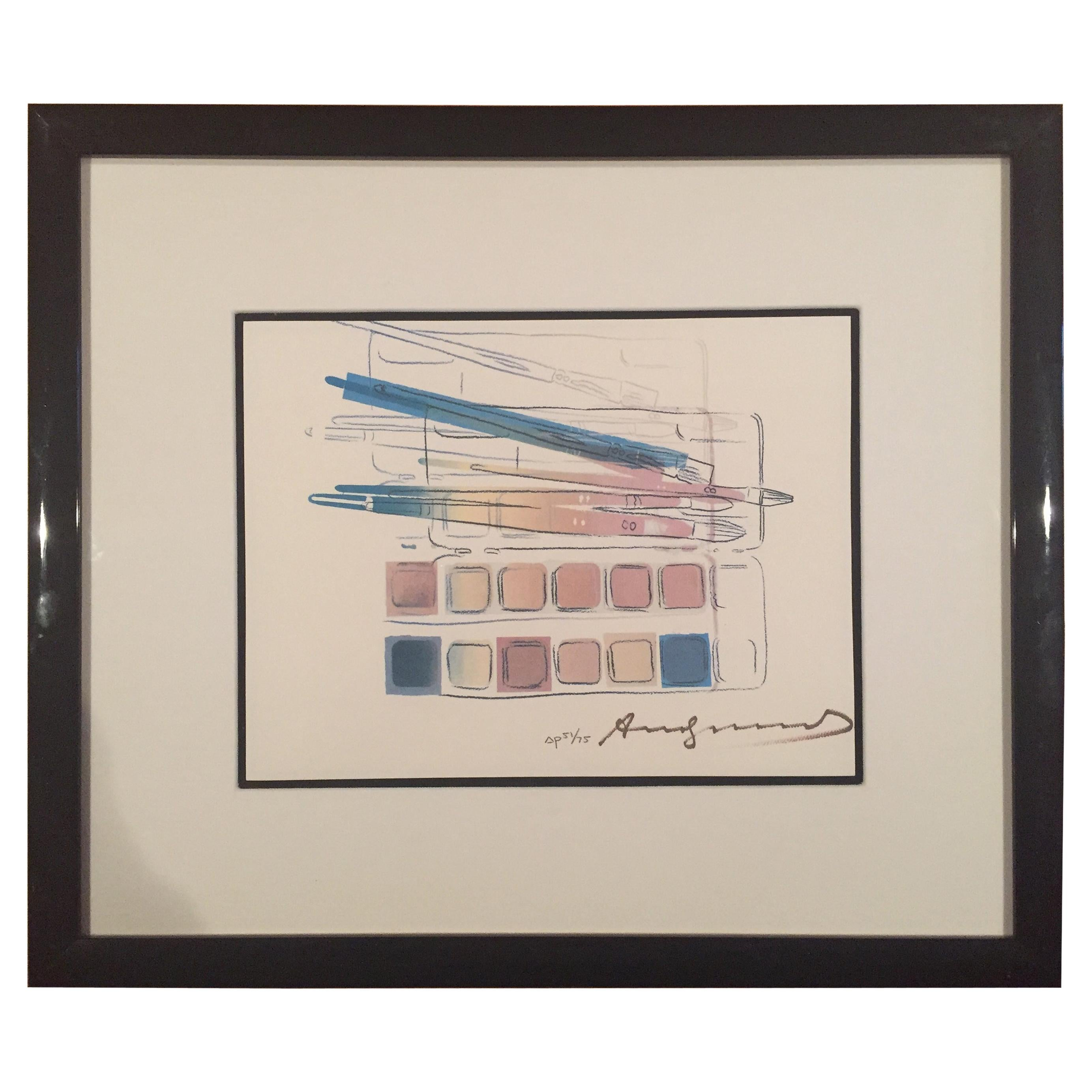 """Andy Warhol """"Watercolor Paint Kit with Brushes"""""""