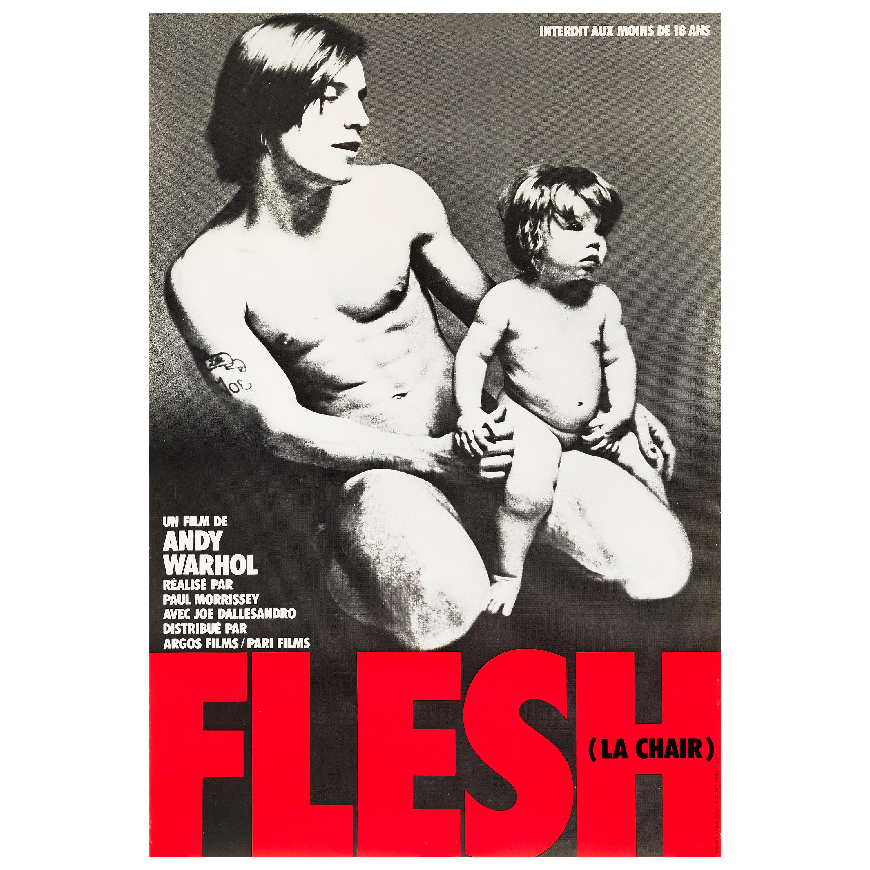 Andy Warhol's 'Flesh' Original Vintage Movie Poster, French, 1968