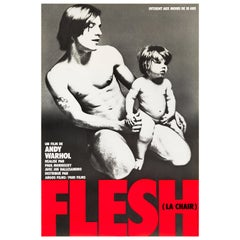 Andy Warhol's 'Flesh' Original Vintage Movie Poster, French, 1968