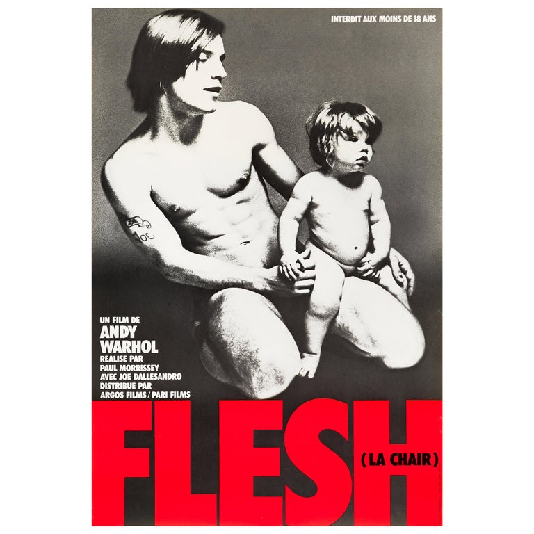 Andy Warhol's 'Flesh' Original Vintage Movie Poster, French, 1968 For Sale