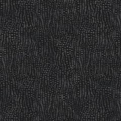 Anemone Designer Wallpaper in Color Assam 'Multi-Color Grey on Black'
